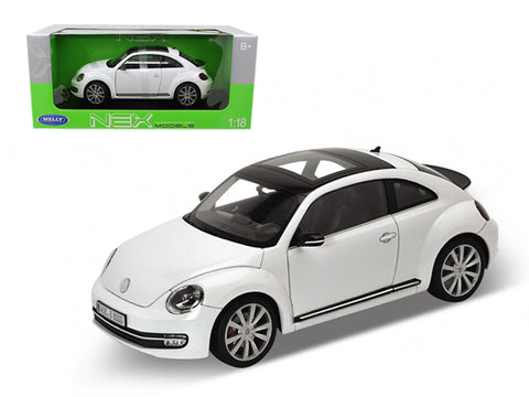2012 Volkswagen New Beetle White 1/18 Diecast Model Car by Welly