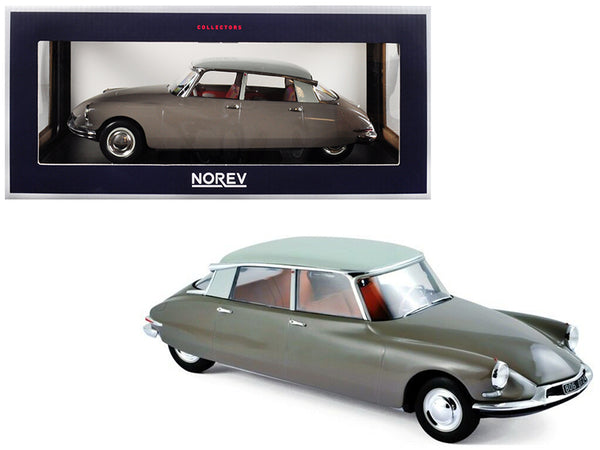 1959 Citroen DS 19 Light Brown with Carrare White Top 1/18 Diecast Model Car by Norev