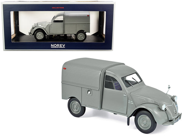 1957 Citroen 2CV Fourgonnette Van Gray 1/18 Diecast Model by Norev