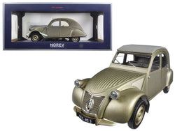 1950 Citroen 2CV A Gold 1/18 Diecast Model Car by Norev