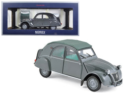 "1957 Citroen 2CV AZL ""Malle Bombee"" Grey 1/18 Diecast Model Car by Norev"