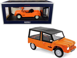 1983 Citroen Mehari Matt Kirghiz Orange with Black Top 1/18 Diecast Model Car by Norev
