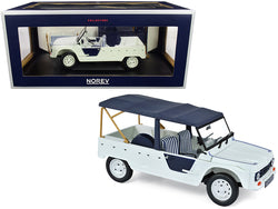 "1983 Citroen Mehari ""Azur"" Bluish White with Dark Blue Top 1/18 Diecast Model Car by Norev"