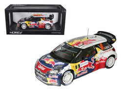 "Citroen DS3 #8 WRC Rally France 2012 Neuville/Gilsoul ""Red Bull"" 1/18 Diecast Model Car by Norev"