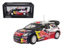 "Citroen DS3 #2 WRC Winner Rally Portugal 2011 Ogier/Ingrassia ""Red Bull"" 1/18 Diecast Model Car by Norev"