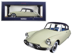 1956 Citroen DS19 Champagne and Aubergine Salon de Paris (October 1955) 1/18 Diecast Model Car  by Norev