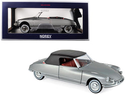 1961 Citroen DS 19 Cabriolet Pearl Grey 1/18 Diecast Model Car by Norev