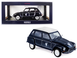 1977 Citroen Dyane 6 Caban Dark Blue 1/18 Diecast Model Car by Norev