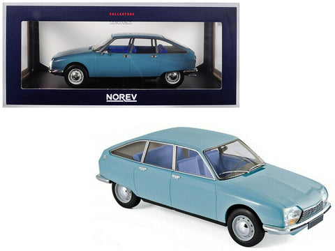 1972 Citroen GS Club Camargue Blue 1/18 Diecast Model Car by Norev