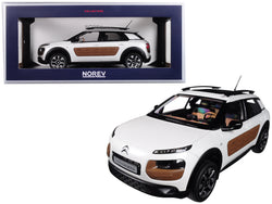 2014 Citroen C4 Cactus Pearl White with Chocolate Airbump 1/18 Diecast Model Car by Norev