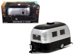 Airstream Bambi 16' Camper Trailer Black/Silver for 1/24 Scale Model Cars and Trucks 1/24 Diecast Model by Greenlight