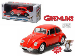 "1967 Volkswagen Beetle with Gizmo Figure ""Gremlins"" (1984) Movie 1/24 Diecast Model Car by Greenlight"