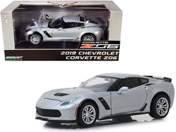 2019 Chevrolet Corvette Z06 Coupe Blade Silver Metallic 1/24 Diecast Model Car by Greenlight