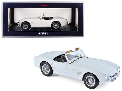 1963 Shelby AC Cobra 289 Coupe White 1/18 Diecast Model Car by Norev