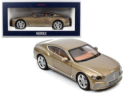 2018 Bentley Continental GT Dark Cashmere Brown Metallic 1/18 Diecast Model Car by Norev