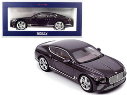 2018 Bentley Continental GT Damson Purple Metallic 1/18 Diecast Model Car by Norev