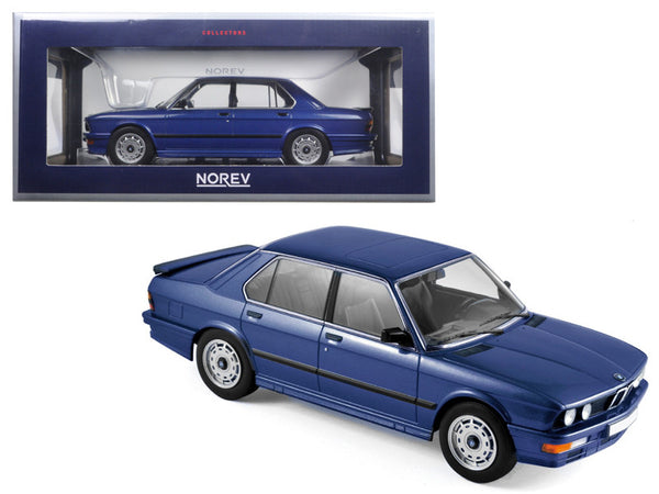 1987 BMW M535i Blue Metallic 1/18 Diecast Model Car by Norev
