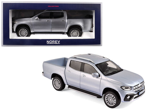 2017 Mercedes Benz X-Class Pickup Truck Silver 1/18 Diecast Model by Norev