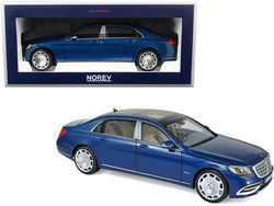 2019 Mercedes Maybach S 650 Blue Metallic 1/18 Diecast Model Car by Norev
