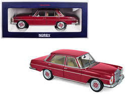 1968 Mercedes Benz 280 SE Dark Red 1/18 Diecast Model Car by Norev