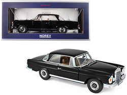 1969 Mercedes Benz 280 SE Coupe Black 1/18 Diecast Model Car by Norev