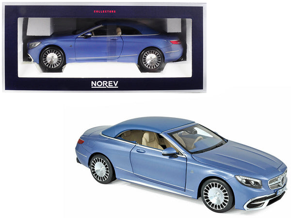 2018 Mercedes Maybach S650 Cabriolet Metallic Blue 1/18 Diecast Model Car by Norev