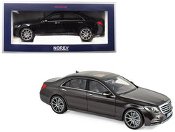2018 Mercedes Benz S Class AMG Line Ruby Black Metallic 1/18 Diecast Model Car by Norev
