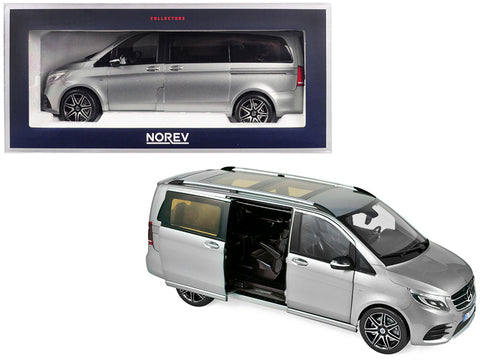 2018 Mercedes Benz V-Class AMG Line Van Gray Metallic 1/18 Diecast Model by Norev