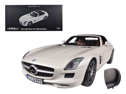 2011 Mercedes SLS AMG Roadster Pearl White 1/18 Diecast Model Car by Norev