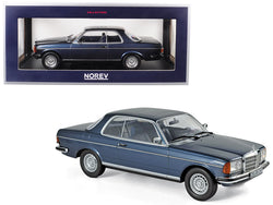 1980 Mercedes Benz 280 CE Coupe Blue Metallic 1/18 Diecast Model by Norev