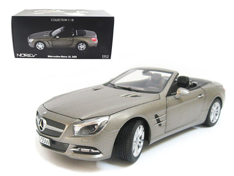 2012 Mercedes Sl Class SL 500 Matte Grey 1/18 Diecast Model Car by Norev