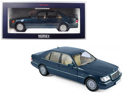 1997 Mercedes Benz S600 V12 Metallic Green 1/18 Diecast Model Car by Norev