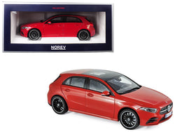 2018 Mercedes Benz A Class with Sunroof Red 1/18 Diecast Model Car by Norev