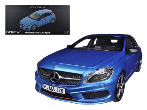 2012 Mercedes A 250 Sport Blue 1/18 Diecast Model Car by Norev