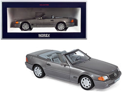 1989 Mercedes Benz 500SL Convertible Gray Metallic 1/18 Diecast Model Car by Norev