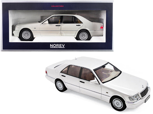 1997 Mercedes Benz S320 Metallic White 1/18 Diecast Model Car by Norev