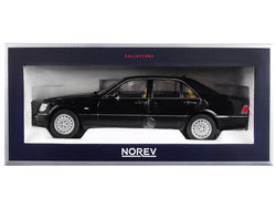 1997 Mercedes Benz S320 Metallic Black 1/18 Diecast Model Car by Norev