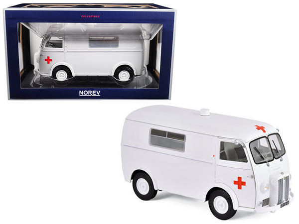 1963 Peugeot D4B Ambulance 1/18 Diecast Model by Norev