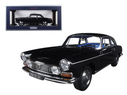 1967 Peugeot 404 Coupe Black 1/18 Diecast Model Car by Norev