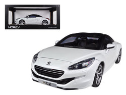 2012 Peugeot RCZ Pearl White 1/18 Diecast Model Car by Norev