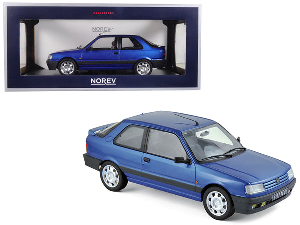1991 Peugeot 309 GTi 16 Miami Blue 1/18 Diecast Model Car by Norev