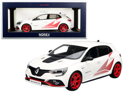 2019 Renault Megane R.S Trophy-R White with Red Graphics and Wheels 1/18 Diecast Model Car by Norev