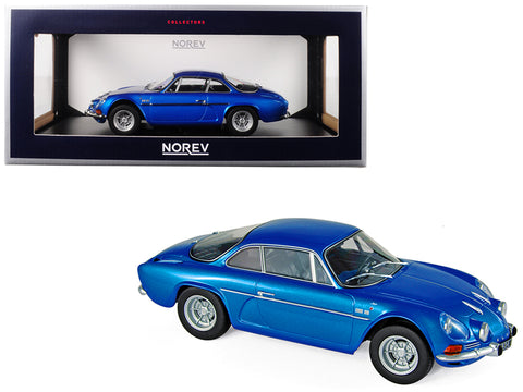 1971 Renault Alpine A110 1600S Metallic Blue 1/18 Diecast Model Car by Norev