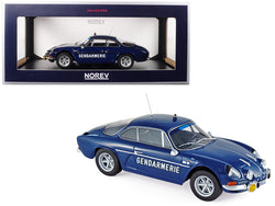 "1971 Renault Alpine A110 1600S ""Gendarmerie"" Dark Blue 1/18 Diecast Model Car by Norev"