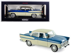 1960 Simca Vedette Chambord Tropic Green and China Ivory 1/18 Diecast Model Car by Norev
