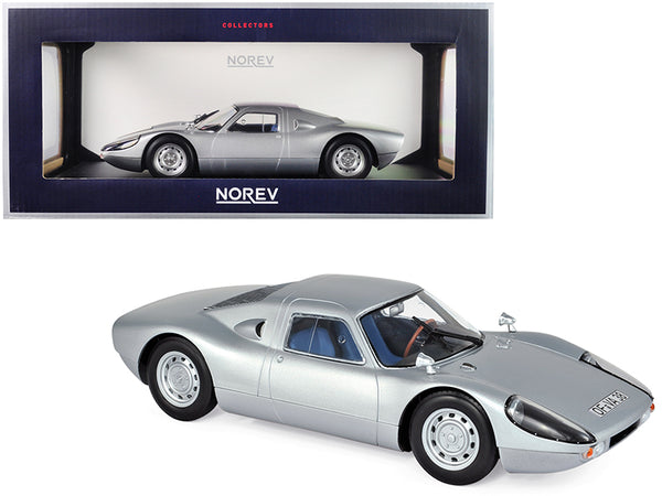 1964 Porsche Carrera 904 GTS Silver with Blue Interior 1/18 Diecast Model Car by Norev
