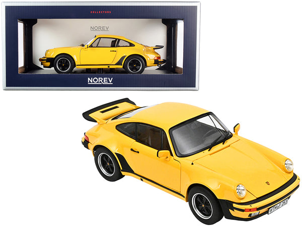 1976 Porsche 911 Turbo 3.0 Yellow 1/18 Diecast Model Car by Norev