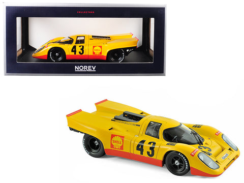 "Porsche 917K ""Shell"" #43 Laine/ van Lennep 5th Place 1970 1000km Spa 1/18 Diecast Model by Norev"