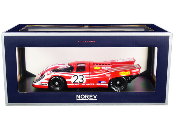 Porsche 917K #23 Hans Herrmann - Richard Attwood Winners 24 Hours of Le Mans (1970) 1/18 Diecast Model Car by Norev