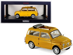 1968 Fiat 500 Giardiniera Positano Yellow 1/18 Diecast Model Car by Norev